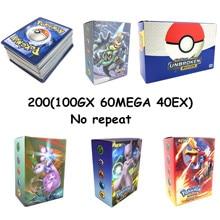 200 шт серии Pokemones карты GX Мега тег команда EX TAKARA TOMY карточная игра битва карта с коробкой