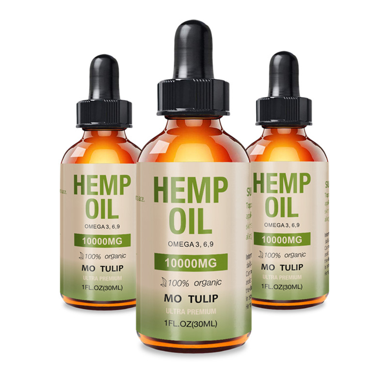 MO TULIP Essential Oils 10000mg Cbd Oil Organic Hemp Seed Extract Hemp Oil Bio-active Drop For Pain Relief Reduce Sleep Anxiety