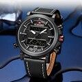 Luxus Marke NAVIFORCE Military Herren Uhren Männlichen Datum LED Analog Uhr Digitale Uhr Männer Leder Wasserdicht Quarz Armbanduhren