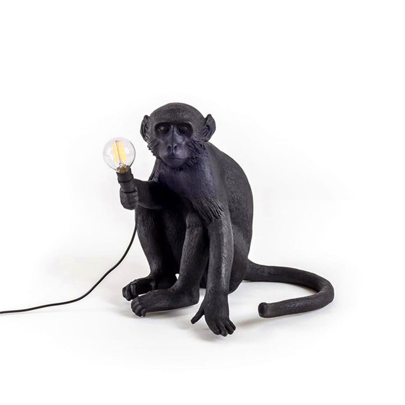 Arrive dans les 7 jours! Moderne pendentif LED lumières résine singe lampe LOFT suspension lampe salon chambre Restaurant Bar cuisine luminaires suspendus lampe - 6