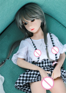 Image 4 - 100cm(3.28ft) Silicone Mini Sex Doll Lolita Cute Maid Japanese Adult Doll Vagina Pussy Anal Oral Sex Toy For Men Boob Silicone