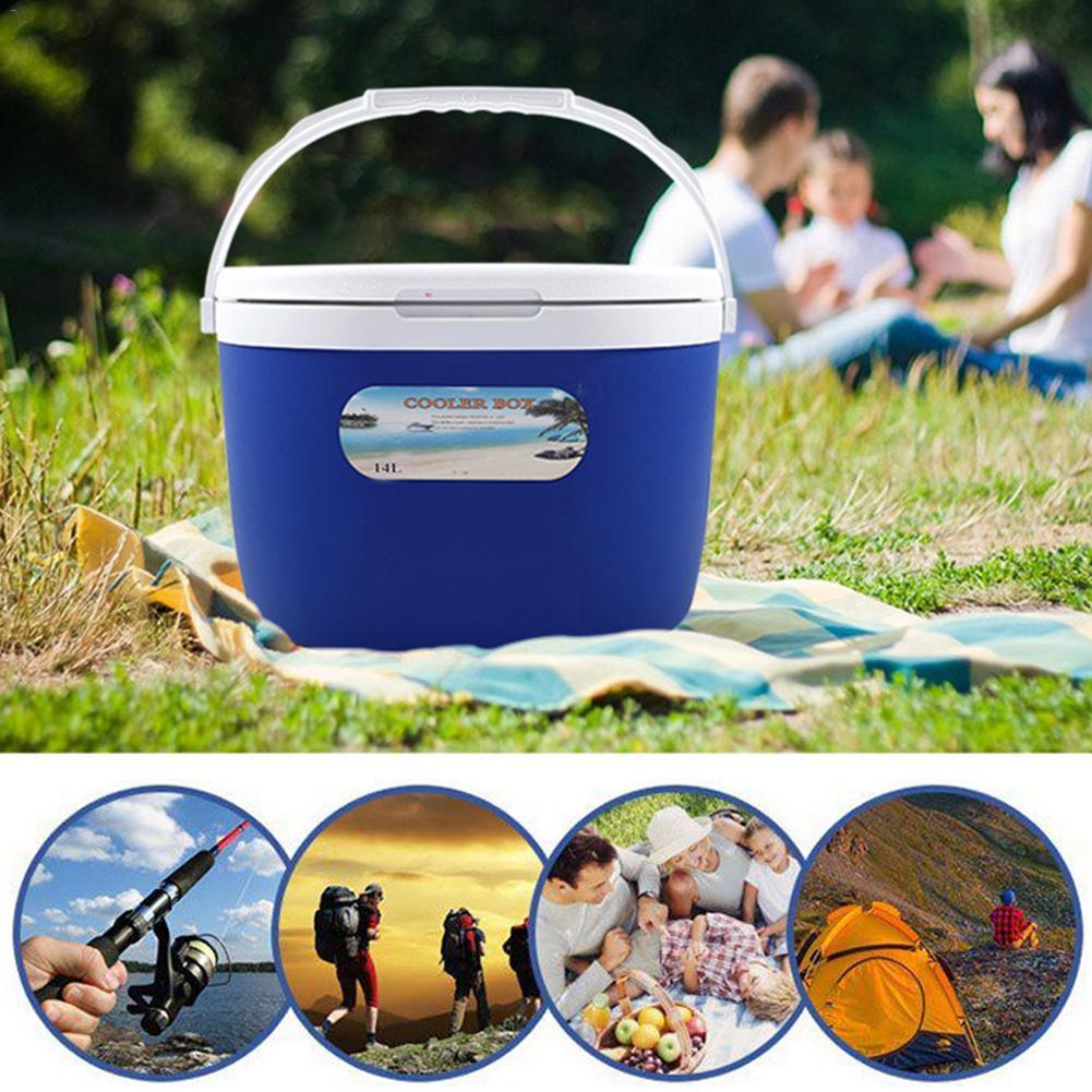 Support de stockage de nourriture Portable extérieur refroidisseur boîte 14L chaleur et isolation fraîche pour la pêche de pique-nique