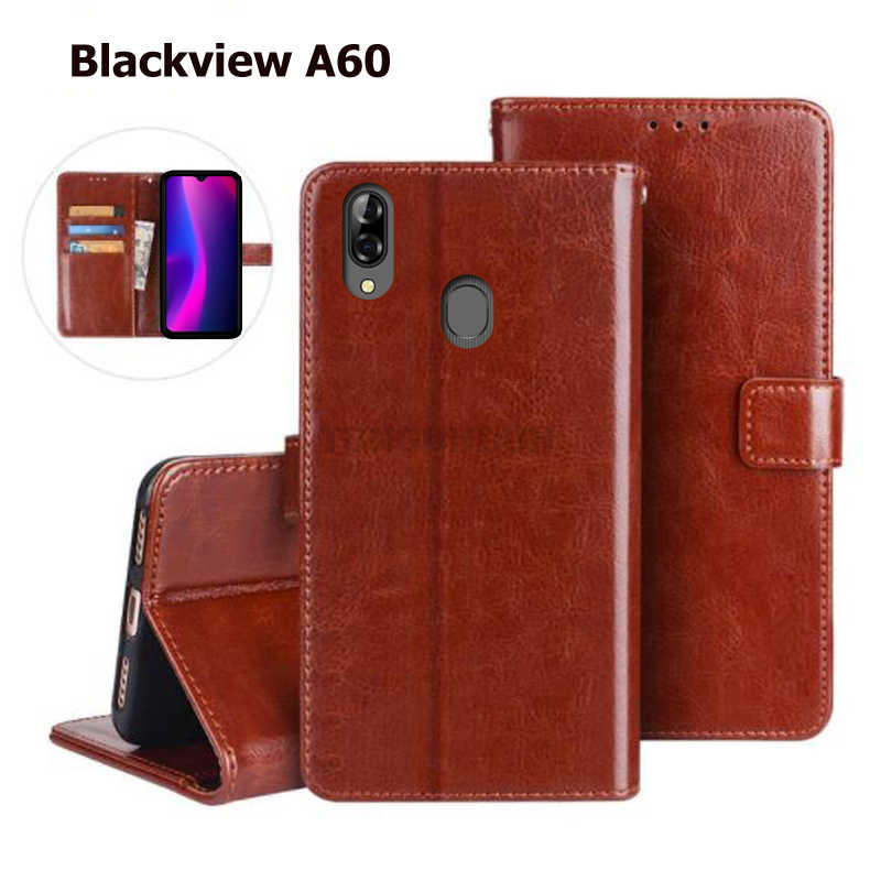 Blackview A60 Case Luxury Leather Flip Wallet Back Cover For Blackview A7 A10 A20 Pro Protective phone Magnetic Stand Holder Bag
