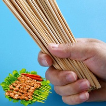 Roasting Bamboo Skewers Wooden BBQ Kebab Fruit Chocolate Fountain Stick Party Buffet Food Disposable Meatballs Flat Paddle Picks