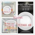 Mi светильник FUT063 FUT068 6 W/FUT069 15 Вт светодиодный вниз светильник AC100-240V затемнения RGB + CCT Встраиваемый светодиодный панельный светильник Водоне...
