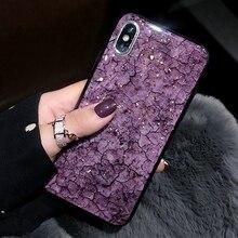 Чехол Из Мраморной золотой фольги с блестками для iphone X 11 Pro XS MAX 10 XR 7 8 Plus 6s 6, Модный мягкий силиконовый термополиуретановый противоударный чехол