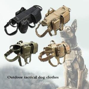 Image 1 - Mode Tactische Hond Training Molle Vest Harnas Huisdier Vest Met Afneembare Zakjes Militaire K9 Harnas Voor Medium Grote Honden Jy