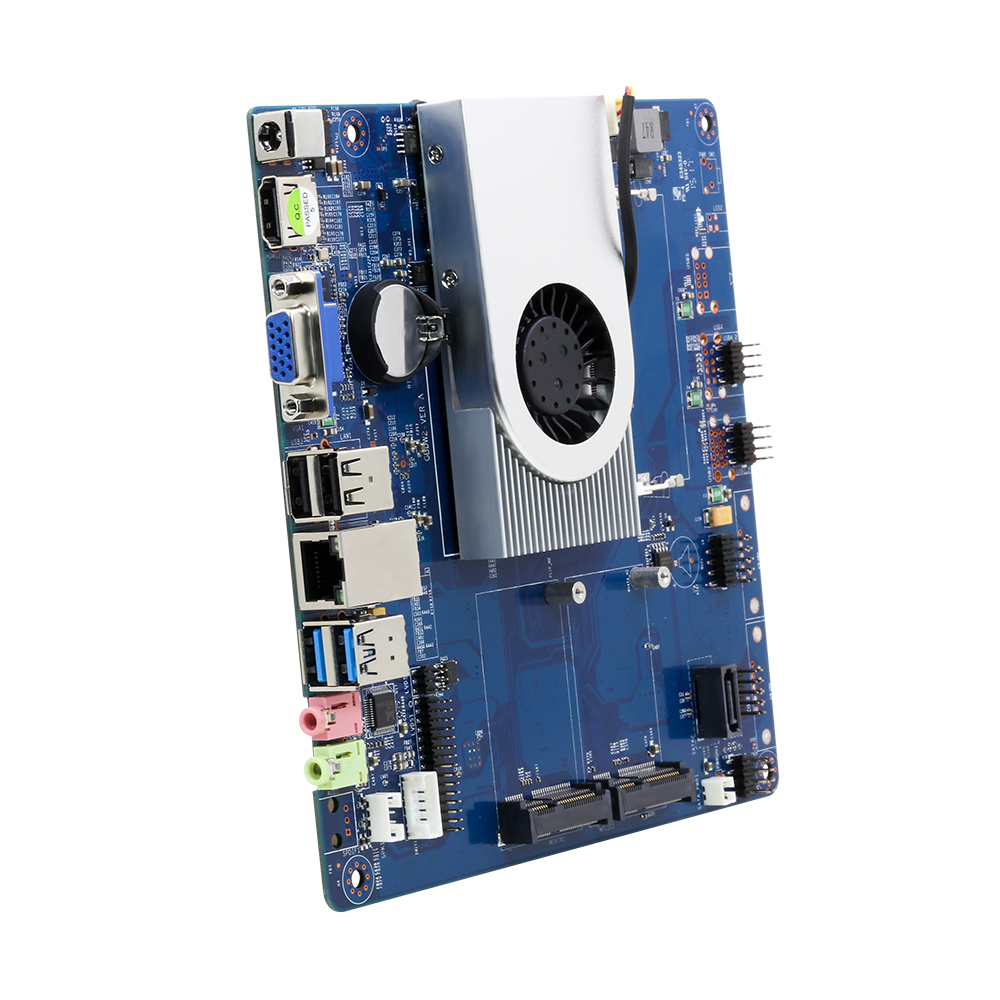 <font><b>Intel</b></font> <font><b>Core</b></font> <font><b>i3</b></font> <font><b>4010U</b></font> Motherboard Brand NEW HDMI VGA Gigabit LAN 6*USB Mini ITX mSATA SATA Mini PCI-E 12V 5A Desktop Mainboard image