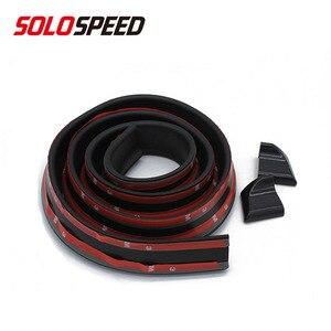 Universal Soft Rubber Car Rear Spoiler 40mm Width 1.5m Length Exterior Rear Spoiler Kit FOR RACING CAR