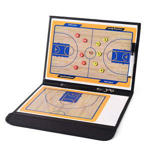 Double-Sided Coaches Clipboard Indoor Portable Durable Strong Magnetic Dry Erase Marker Widely Use Gym Basketball Tactical Board