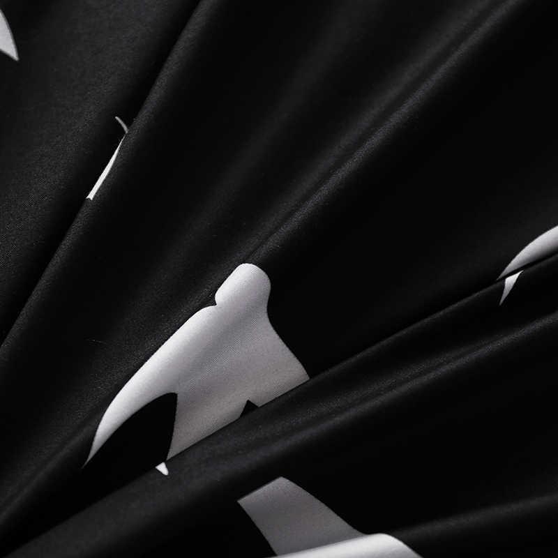 Luxury Bedding Set Duvet Cover Sets 3pcs Marble Super King Size Single Swallow Queen Black Comforter Bed Linens Cotton Designer