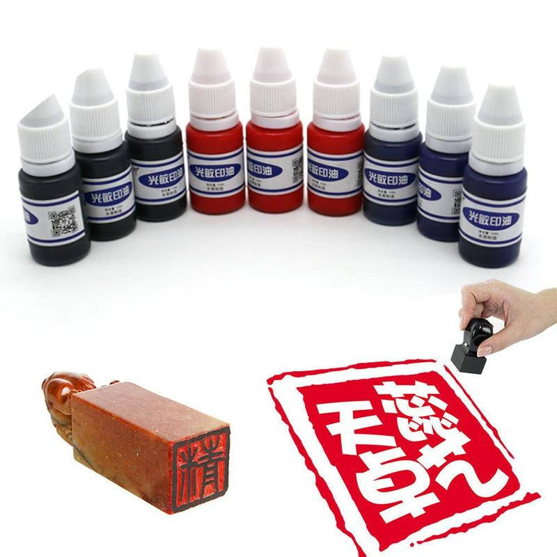High Definition Environmental Protection 10 Ml Vial Photosensitive Printing Oil, Stamp Office Seal Printing Oil Penetration Ink