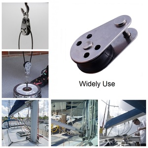 Image 5 - 5PCS Stainless Steel 316 Pulley Block 45mm Hanging Wire Towing Wheel Lifting Wire Rope Cable Pulley Roller For 2mm To 8mm Rope