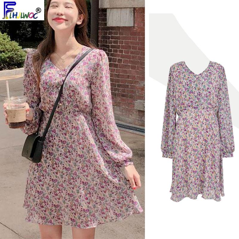 Осень новое поступление дизайнерских платьев основной гардероб женское платье с длинными рукавами и галстуком бабочкой фиолетовое шифоновое платье рубашка с v образным вырезом винтажное 8611|Платья|   | АлиЭкспресс
