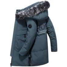 -40 Celsius Deep Winter 80% White Duck Down Jacket Men Real Fur Collar Thicken O