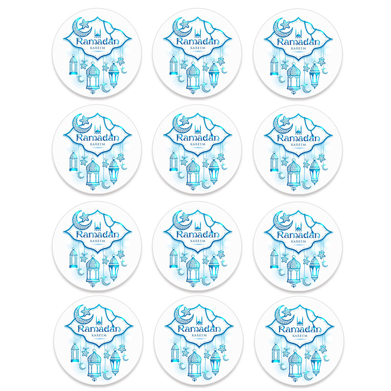 24/48pcs EID Mubarak Decor Stickers Ramadan Decoration Eid al-fitr Islam Muslim Festival Favor Gifts Labels HAJJ Ramadan Kareem