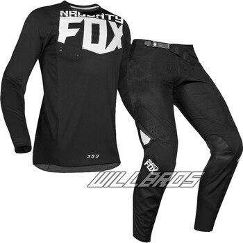 велосипед грязи передач | Новый 2019 Naughty Fox мотогонок Джерси и брюки Dirt Bike спортивные горный велосипед ATV Для Мужчин серый Автоспорт Шестерни комплект Гонки