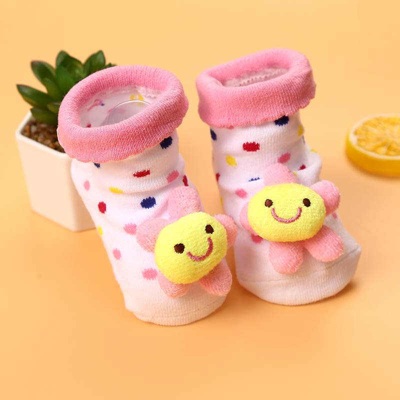 Cute Baby Anti-slip Socks Boy Girl Cartoon Cotton NewBorn Infant Toddler Socks