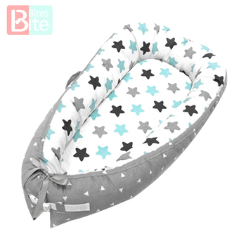 Baby Bed Baby Portable Crib Toddler Removable Baby Cribs Sleeping Bed Basket Bumpers Bumper Bed Safety Protection Non Detachable newborn basket portable baby basket wicker woven sleeping basket car baby basket baby cradle bed