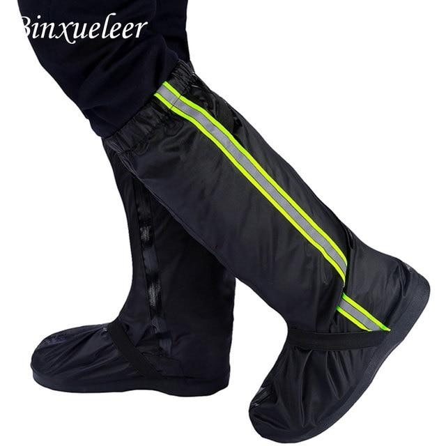 Unisex fluorescencyjny pokrowiec na buty przeciwdeszczowe buty wielokrotnego użytku pokrowiec przeciwdeszczowy na buty wodoodporny pokrowiec na buty przeciwdeszczowe motocyklowe antypoślizgowe buty