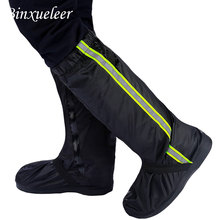 Unisexe Fluorescent pluie chaussures couverture bottes réutilisable pluie couverture pour chaussures étanche moto pluie chaussures couverture bottes antidérapantes
