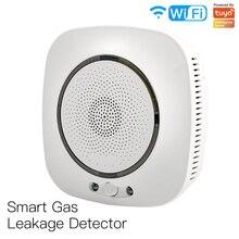 Newest Sensitive Smoke Alarm Sensor Tuya /Smart life APP WiFi Smart Gas Leakage Fire Security Detector Smart Home Security Guard