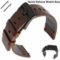 22mm pasek do zegarka Samsung Gear S3 Frontier/klasyczny zegarek Galaxy 46mm skórzany pasek do zegarka dla Huami Amazfit Pace/Stratos 2