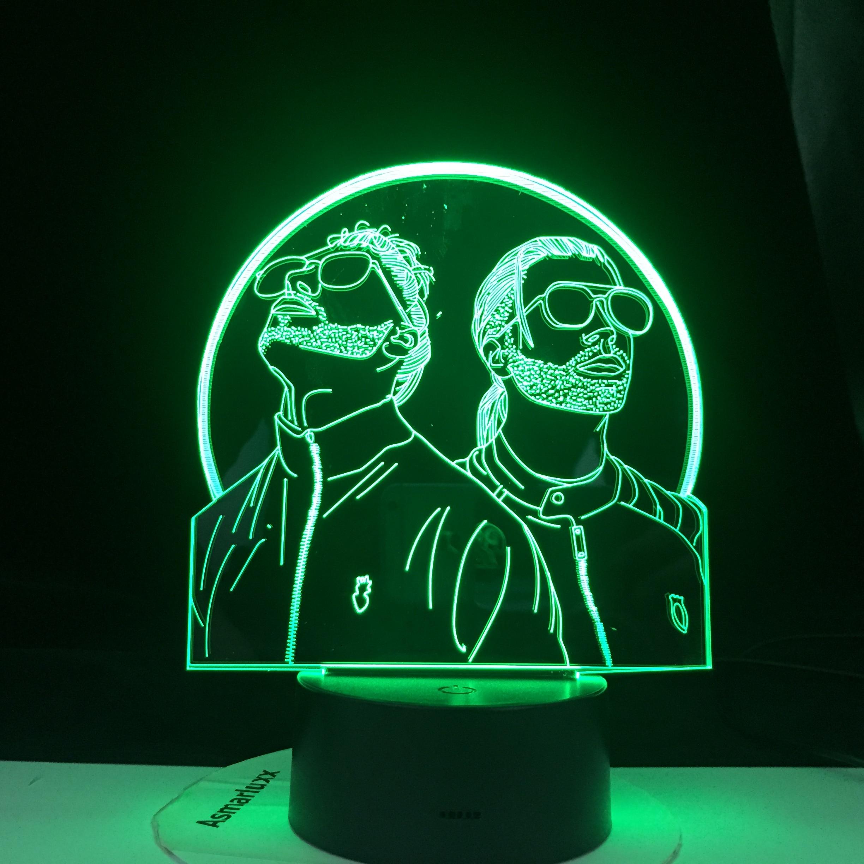 Французский Рэп Группа PNL 3d Ночник светильник Led Изменение цвета Ночник светильник для спальни ing для фанатов Suprise подарки быстрая доставка