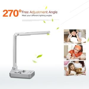Image 4 - Esnek masa lambası 1800mAh şarj edilebilir lambaları masa 30 adet Led masa lambası 5 mod karartma dokunmatik ofis iş Led masa lambası