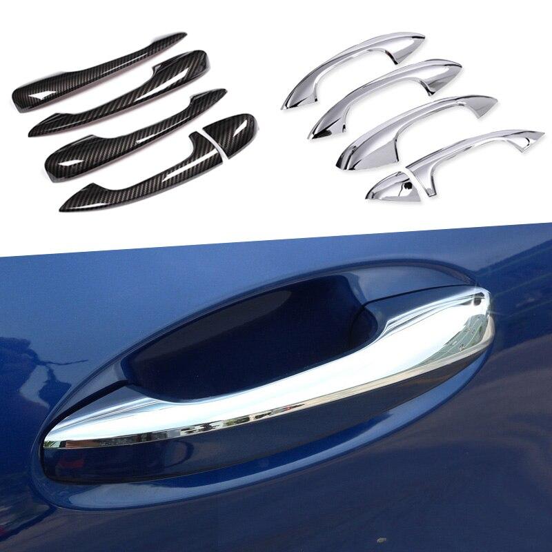 Авто ABS Хромированная внешняя дверная ручка накладка наклейка для Mercedes Benz C Class W205 GLC X253 E Class W213 автомобильные аксессуары LHD
