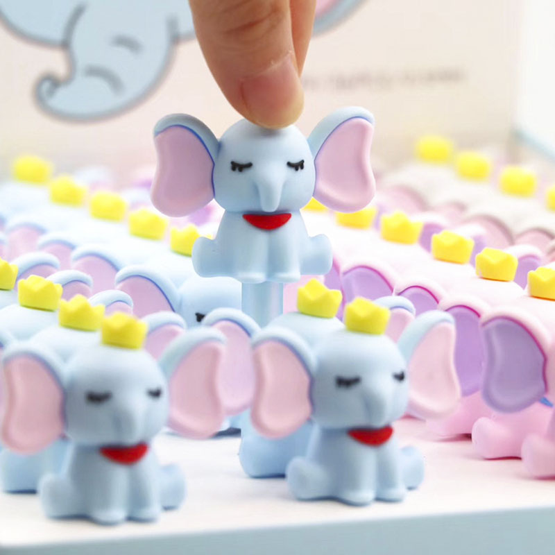 36 Pcs/lot Kawaii Elephant Gel Pen Cute 0.5mm Black Ink Neutral Pen School Writing Supplies Promotional Gift
