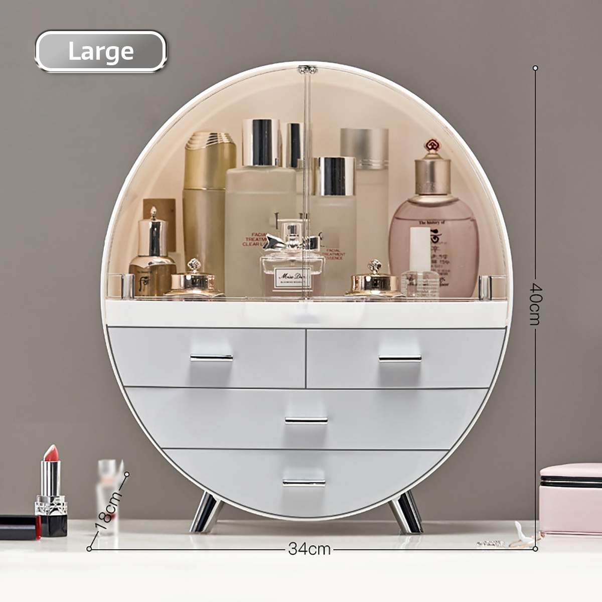 Koreac Style Desktop Cosmetic Storage Box Dresser Container Boxes Makeup Skin Care Jewelry Lipstick Shelf Organizer Case