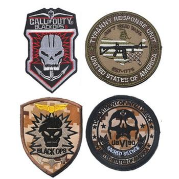 Unidad de Respuesta Tyranny, Parche bordado de EE. UU., emblema de Multicam Black Ops, parches DIY para ropa, insignia táctica, Parche Militar
