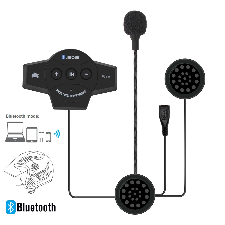GETNOOG шлем гарнитура мотоциклетная bluetooth гарнитура Водонепроницаемый шлем Bluetooth Проводная Bluetooth поставляется с FM для мотоцикла