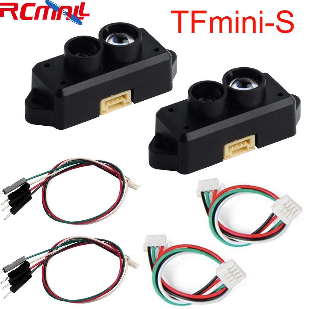 2PCS 0.1-12m TFmini-S Lidar Range Finder Sensor Module TOF Single Point Micro Ranging For Arduino Pixhawk Robot Drone UART &IIC