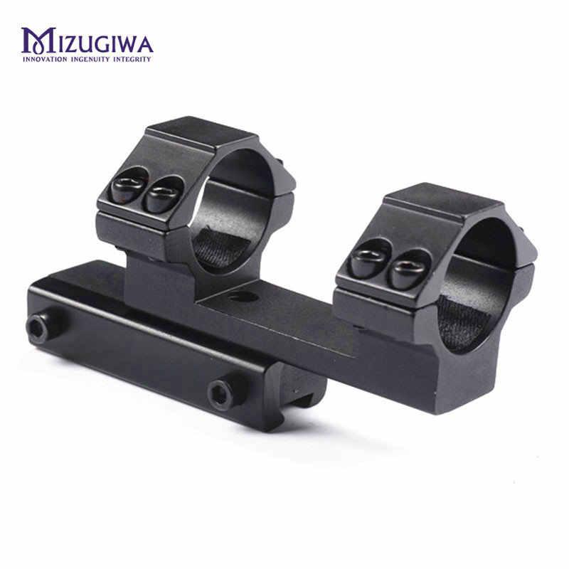 """MIZUGIWA, táctico, caza, Integral, anillo doble plano de 25,4mm, 1 """", anillo de 11mm/20mm, Weaver carril de montaje, Rifle, mira telescópica láser"""