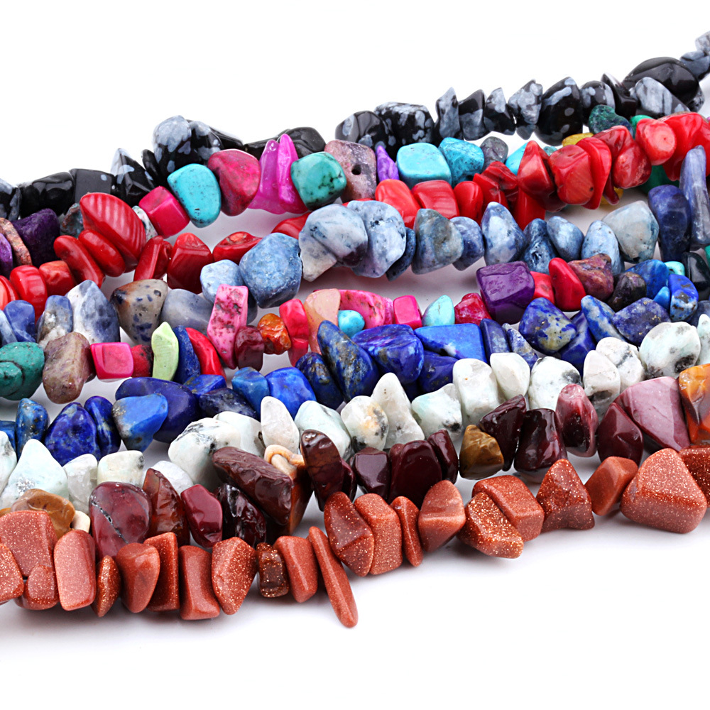 Natural Stone Beads Chips Beads 5-8mm Crystal Tiger Eye Strand 16 inch irregular Gravel Beads Diy Bracelet For Jewelry making