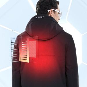 Image 2 - Youpin SUPIELD Aerogel קר חליפת חשמלי מחומם בגדים קר התנגדות מעיל Windproof עמיד למים גברים בגדי נגד קר מעיל