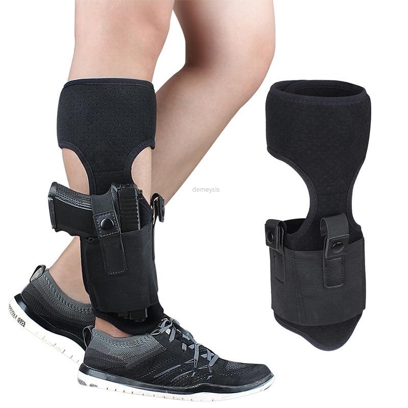 Ankle Holster for Concealed Carry Elastic Secure Strap Leg Pistol Gun Holster for Glock 17 19 22 23 Ruger Lcp Sig 9mm Gun Pistol(China)