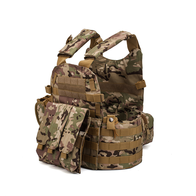 Men Military Tactical Vest Paintball Camouflage Molle Hunting Vest Assault Shooting Airsoft Vests Outdoor Clothes Accessories 2