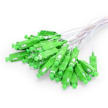 SC APC 1X4 PLC Fiber Optic Splitter FTTH 0.9mm SC Singlemode mini Steel Pipe optical splitter