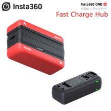 Insta360 carregador de bateria rápida r, carregador base de carregamento para insta360 one r acessórios