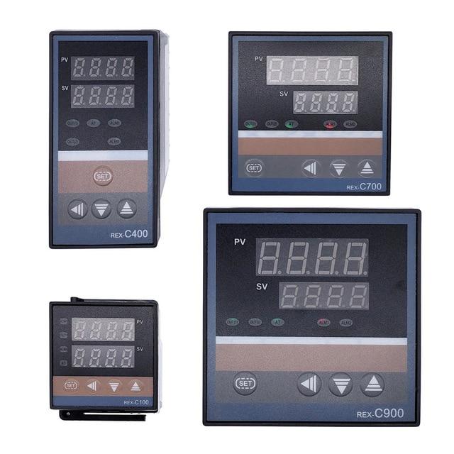 REX C100 intelligente PID regolatore di temperatura REX C100 C400 C700 C900 Termostato SSR Relè di uscita