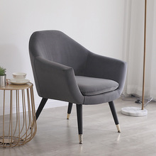 Velvet Accent Chairs Soft Padded Armchair with Wooden Legs Home Office Reception Chair Single Sofa Living Room Bedroom Modern giantex living room accent leisure chair modern fabric upholstered arm chair single sofa chairs home furniture hw54386