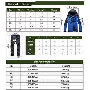 Image 5 - TRVLWEGO Winter Ski Suit Men Windproof Waterproof Snowboard Jacket and Pants Outdoor Super Warm 2 in 1 Thermal Fleece Snow Coat