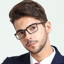 OCCI CHIARI lunettes Anti lumière bleue pour hommes, verres optiques pour ordinateur, Prescription montures de lunettes noire, lentille transparente rétro