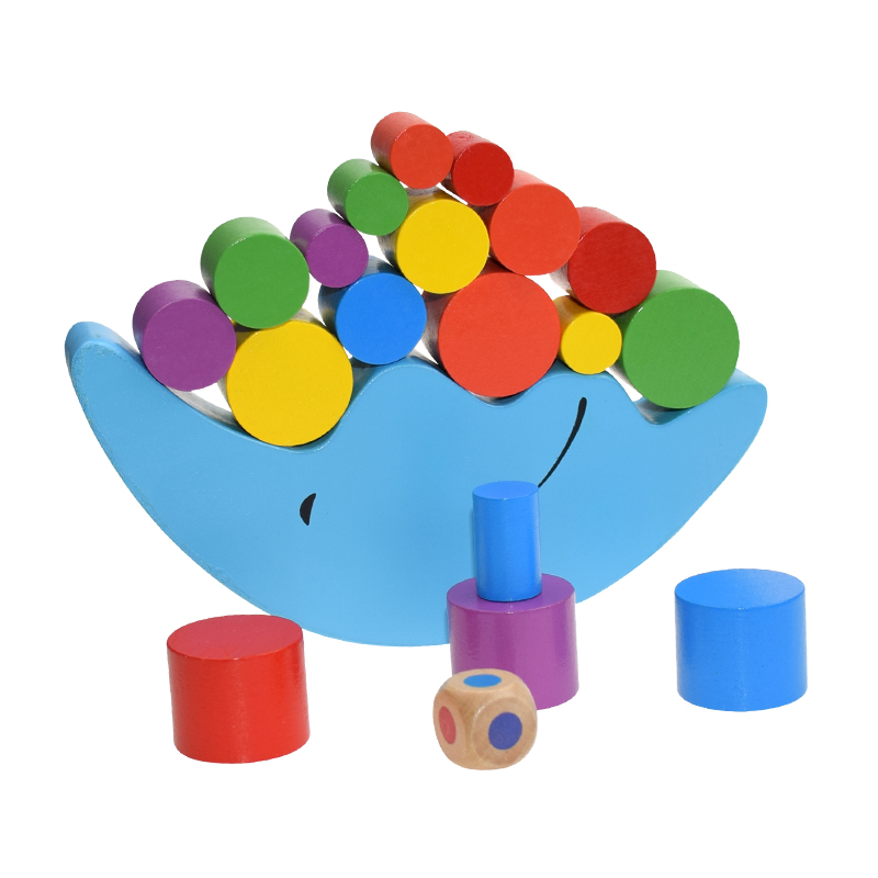 New Wood Moon Balance Game Kids Educational Toys Blocks Baby Children Montessori Wooden Toys Balancing For Children