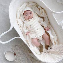 Baby basket sleeping basket newborn basket hand  car portable external discharge baby rocking blue bed bassinet rocking chair