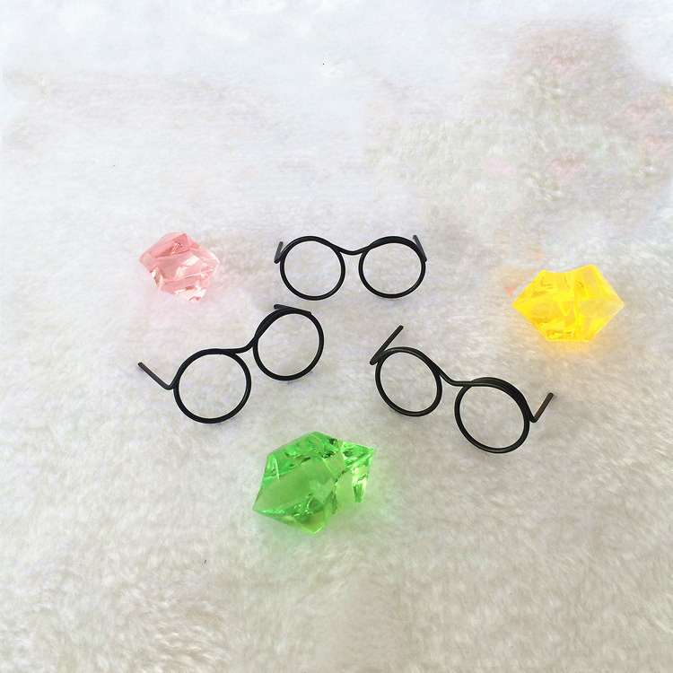 2Pcs/set Fashion Round Frame Lensless Retro Cool Doll <font><b>Glasses</b></font> For <font><b>BJD</b></font> Doll 1/6 30cm Doll Accessories Gift image