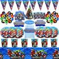 115 шт. супергероя тема кружки, тарелки, салфетки для мальчиков День рождения воздушные шары для парти украшения товары для праздника пользу ...